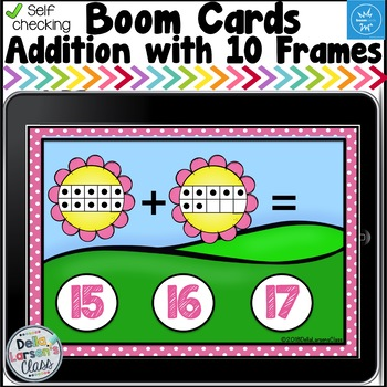 Digital Boom Cards Spring Teen Numbers