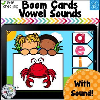 Digital Boom Cards Spring Vowels