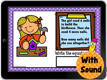 Digital Boom Cards  Spring Word Problems
