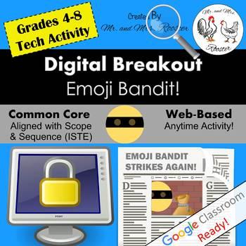 Digital Breakout - Emoji Bandit!   Emoji Digital Escape Room