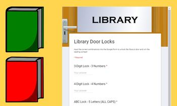 Digital Breakout Activity - Library Lock-Out! Literary Elements Escape Room