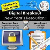 Digital Breakout - New Year's Resolution! | New Year Digital Escape Room