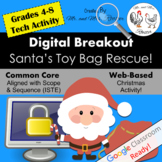 Digital Breakout Activity- Santa's Toy Bag Rescue! Christmas Digital Escape Room