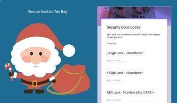 Digital Breakout Activity- Santa's Toy Bag Rescue! Christmas Digital Escape Room