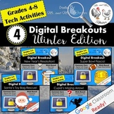 Winter Digital Breakout BUNDLE - Escape Rooms Winter BUNDLE Winter Escape Room
