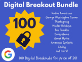 Digital Breakout Bundle: 100 Breakouts! (Escape Rooms, Math, ELA, Activities)