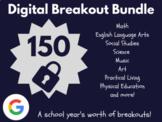 Digital Breakout Bundle: 150 Breakouts! (Escape Rooms, Math, ELA, Activities)