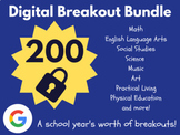 Digital Breakout Bundle: 200 Breakouts! (Escape Rooms, Math, ELA, Activities)