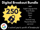 Digital Breakout Bundle: 250 Breakouts! (Escape Rooms, Math, ELA, Activities)