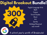Digital Breakout Bundle: 300 Breakouts! (Escape Rooms, Math, ELA, Activities)