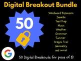 Digital Breakout Bundle: 50 Breakouts! (Escape Room, Scave