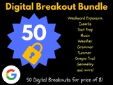 Digital Breakout Bundle: 50 Breakouts (Escape Room, Scavenger Hunt, Brain Break)