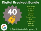 Digital Breakout Bundle: 40 Breakouts! (Test Prep, Derby,