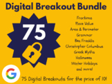 Digital Breakout Bundle: 75 Breakouts! (Distance Learning,