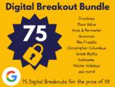Digital Breakout Bundle: 75 Breakouts! (Escape Rooms, Math, ELA, Activities)
