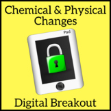 Chemical and Physical Changes Escape Room Digital Breakout Unlock the Box