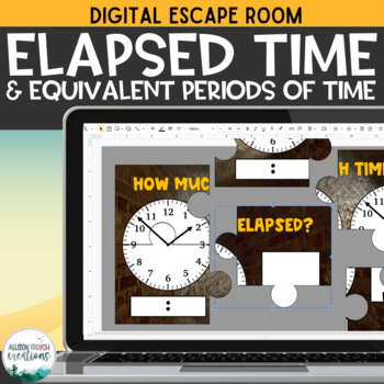 Elapsed Time and Periods of Time Digital Escape Room:  Breakout from the Tomb
