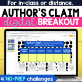 Author's Claim, Evidence, & Counterclaim Digital Breakout