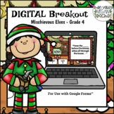Digital Breakout Escape Room (Google Form) Christmas 4th Grade