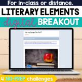 Literary Elements Digital Breakout Activity