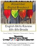Digital Breakout Fall Theme November ELA Nonfiction & Vocabulary Practice
