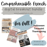Digital Breakout Games in French   Fall Holidays