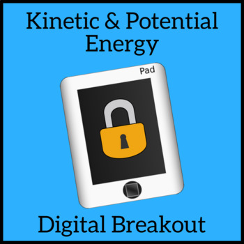 Kinetic and Potential Energy Escape Room Digital Distance Learning Breakout