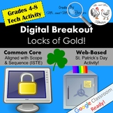 Digital Breakout Activity - Locks of Gold! St. Patrick's Day Digital Escape Room