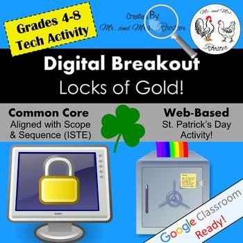 Digital Breakout Activity - Locks of Gold! St. Patrick's Day Digital Escape Room