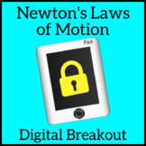 Newton's Laws of Motion Escape Room Digital Breakout, Unlock the Box Activity