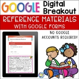 Digital Breakout - Reference Materials using Google Forms