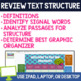 Text Structure for Middle School -  Digital Breakout Activity with Passages