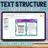 Text Structure Digital Breakout  - Text Structure Middle School
