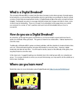 Digital Breakout - Whole Number Computation - Zombies!