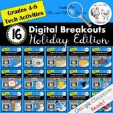 Digital Breakout BUNDLE - Escape Rooms Holiday BUNDLE Thanksgiving Escape Room