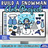 After Winter Break Activity: Digital Build A Snowman Activity & Writing Prompts