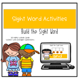 Digital Build the Sight Word Boom Deck and printable versi