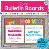 Digital Bulletin Boards | Editable Google Slides | Distanc