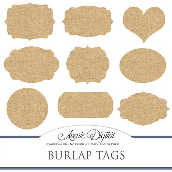 photo about Printable Fabric Labels called Electronic Burlap tags clip artwork Sbook printables material frames labels clipart