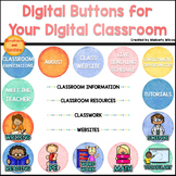 Digital Buttons for Distance Learning Watercolor Set Schoology