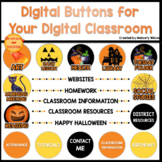 Digital Schoology Buttons for Distance Learning HALLOWEEN