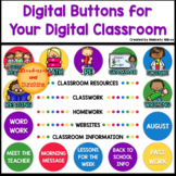 Schoology Digital Buttons for Distance Learning Primary Colors