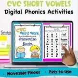 Digital CVC Phonics Word Work Fluency Intervention Binder