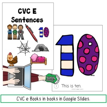 Digital CVC Short E Activities Distance Learning