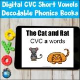 Digital CVC Short Vowel Decodable Phonics Books
