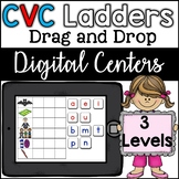 Google Classroom CVC Word Ladders (3 levels) Digital Center