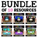 Digital CVC Word Work for Google Classroom Bundle 2 - Dist