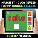 Digital CVCe Review Word Work for Google and Seesaw 2 - Di