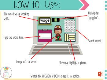 Digital Word Work Center Activities