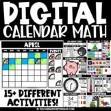 Digital Calendar Math for Google™ Classroom Distance Learning Seesaw Activities
